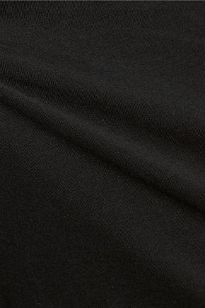 ENZA COSTA Draped stretch-Pima cotton turtleneck top