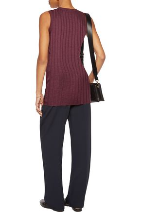 BRUNELLO CUCINELLI Ribbed cashmere and silk-blend top