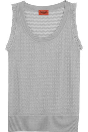 MISSONI Fringe-trimmed wool-blend tank