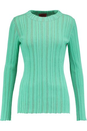 MISSONI Ribbed wool-blend top