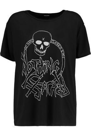 R13 Nothing Sacred printed cotton and cashmere-blend T-shirt