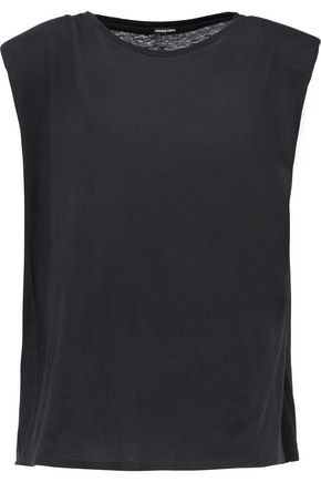 R13 Trapeze slub cotton and cashmere-blend tank