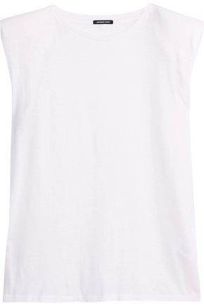 R13 Cotton and cashmere-blend tank