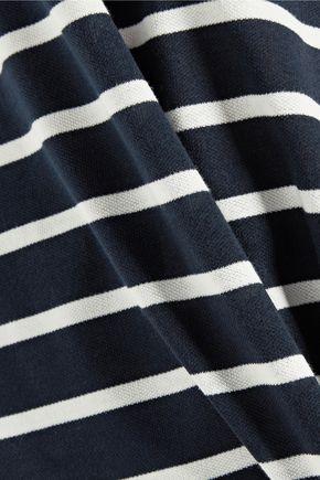 GOEN.J Paneled striped cotton-blend top