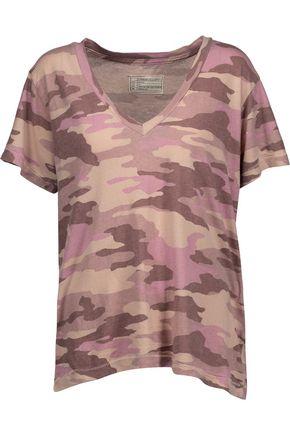 CURRENT/ELLIOTT The V Neck printed cotton-jersey T-shirt