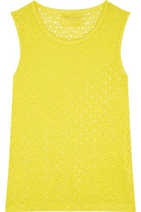 MAJESTIC Perforated linen tank