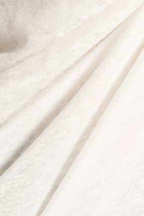 MAJESTIC Layered slub linen-jersey tank