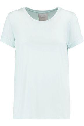 MAJESTIC Pleated stretch-jersey T-shirt