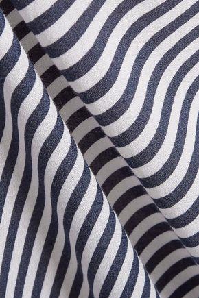 HEIDI KLUM SWIM Osita Sunrise pleated striped crepe de chine coverup