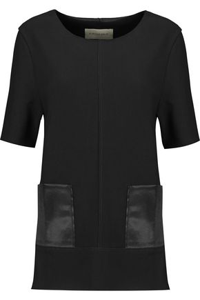 BY MALENE BIRGER Hejdis satin-paneled crepe top