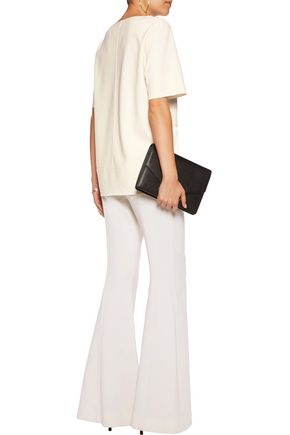 BY MALENE BIRGER Hejdis satin-trimmed crepe top