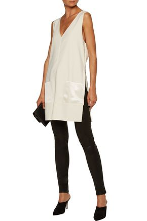 BY MALENE BIRGER Rosiala satin-paneled crepe top