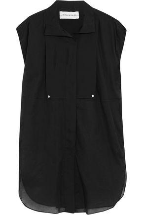 BY MALENE BIRGER Auroria stretch silk-paneled cotton-poplin top