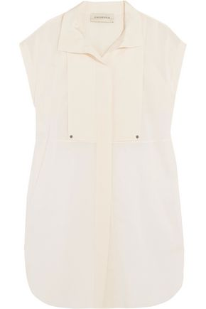 BY MALENE BIRGER Auroria stretch silk-paneled cotton-poplin top