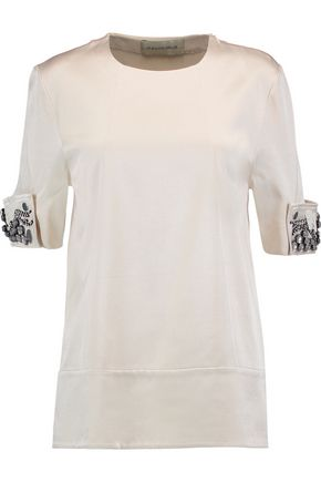 BY MALENE BIRGER Carmina embellished satin top