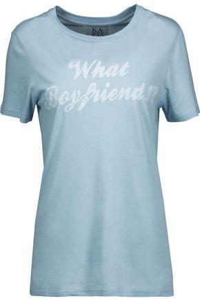ZOE KARSSEN Printed stretch cotton and modal-blend T-shirt