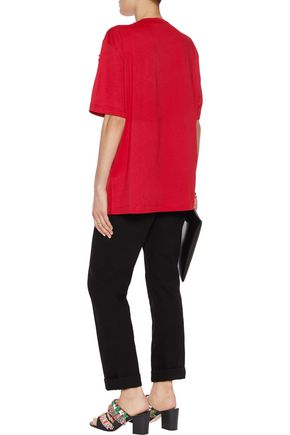 LOVE MOSCHINO Ruffled cotton and modal-blend top