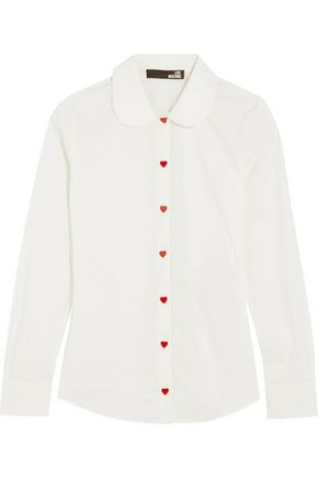 LOVE MOSCHINO Camicia cotton-blend poplin blouse