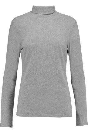 JAMES PERSE Turtleneck cotton-blend jersey top