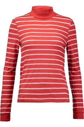 RE/DONE Striped cotton-blend jersey top