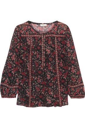 JOIE Rosalind printed silk-crepe blouse
