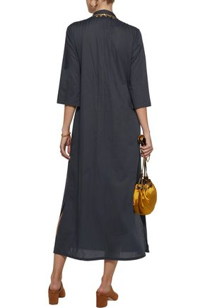 FIGUE Thandie stud-embellished cotton-broadcloth kaftan