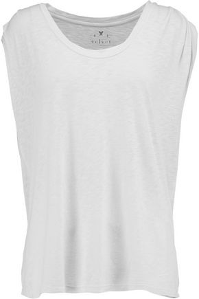VELVET by GRAHAM SPENCER Slub cotton and modal-blend jersey tank