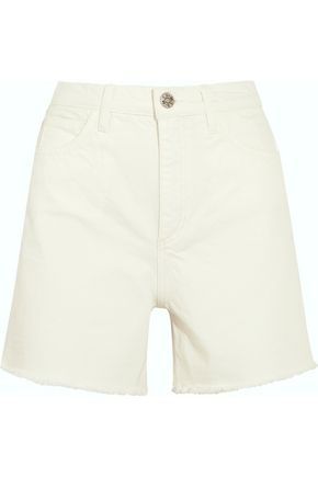 M.I.H JEANS Caron frayed high-rise denim shorts