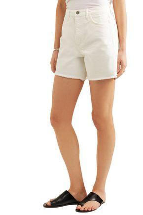 M.I.H JEANS Caron frayed high-rise denim shorts