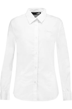 LOVE MOSCHINO Cotton-poplin shirt