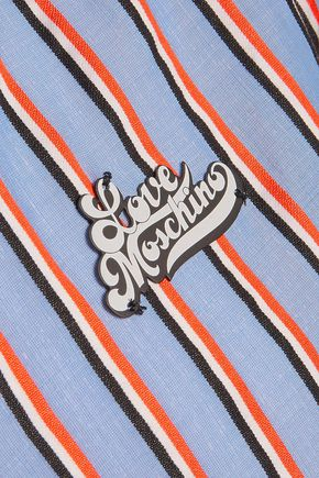 LOVE MOSCHINO Striped cotton shirt