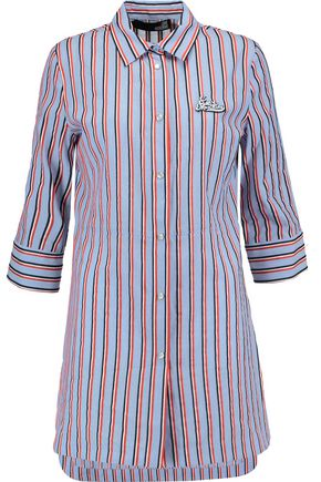 LOVE MOSCHINO Striped cotton shirt