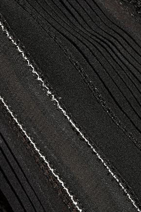 ALICE + OLIVIA Rhona lace-trimmed silk-blend top