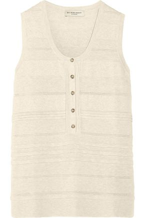 BURBERRY Ribbed cotton-blend top
