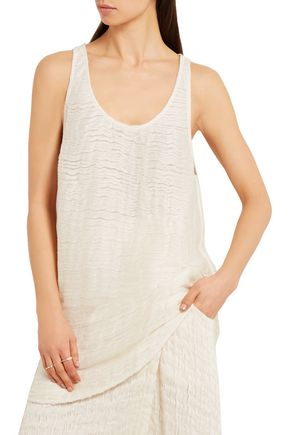 1205 Cotton and linen-blend tank