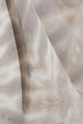 RAQUEL ALLEGRA Tie-dyed silk tank