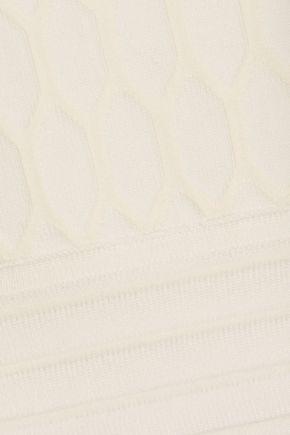 JONATHAN SIMKHAI Cropped cutout jacquard-knit top