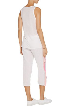LEMLEM Saali striped cotton-blend gauze pants