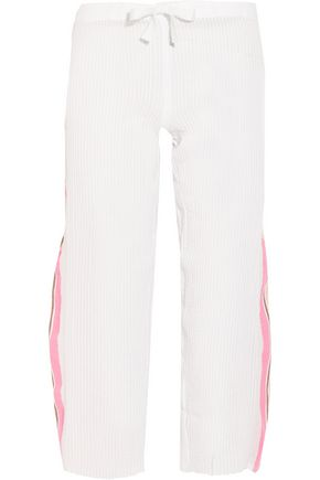 LEMLEM Saali striped cotton-blend gauze pants
