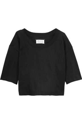 MAISON MARGIELA Coated stretch-jersey top