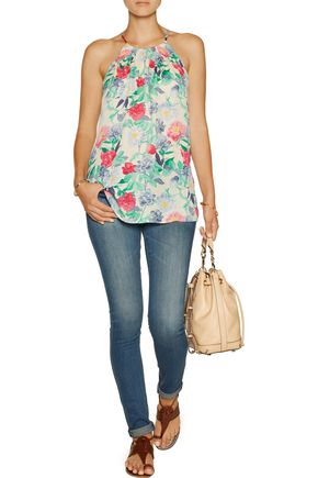 JOIE Esmee floral-print silk-chiffon top