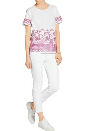 MICHAEL MICHAEL KORS Broderie anglaise cotton-voile top