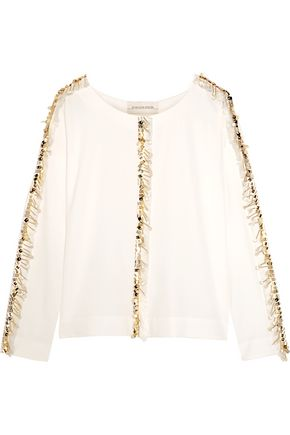 BY MALENE BIRGER Bivas embellished stretch-crepe blouse