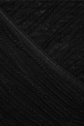 MISSONI Wrap-effect crochet-knit cotton-blend top