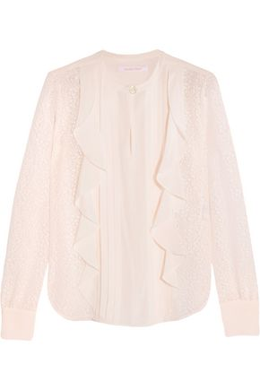 SEE BY CHLOÉ Ruffled devoré-chiffon blouse