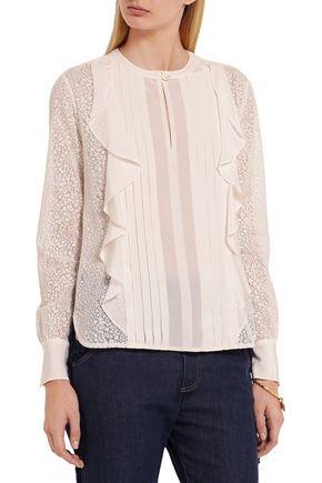 SEE BY CHLOÉ Ruffled devoré-chiffon blouse