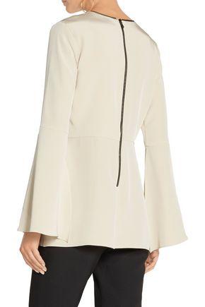 HANEY Sienna silk-blend crepe top