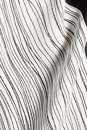 VINCE. Wavy striped silk top