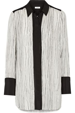 VINCE. Wavy striped silk top
