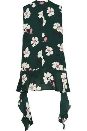 MARNI Floral-print silk-georgette top